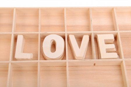 love spell with Wooden alphabet blocks Stock Photo - 17743881