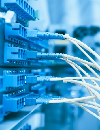 networking cables: fiber cable serve with technology style against fiber optic background