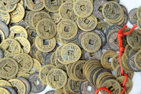 monete antiche: vecchie monete cinesi Archivio Fotografico