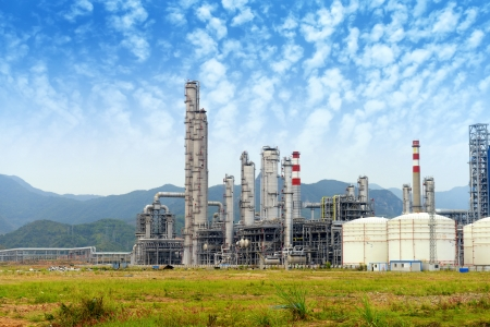 gas processing factory. landscape with gas and oil industry Stock Photo - 18734508