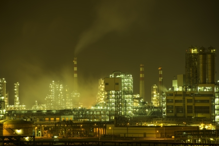 Refinery industrial plant with Industry boiler at night Stock Photo - 20215471