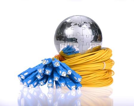 style de technologie de la carte monde sur fibre optique fond