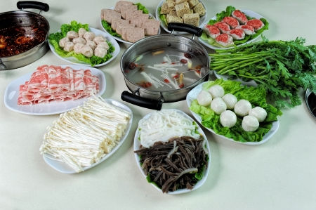 prepared dish: prepared and delicious Chinese chafing dish