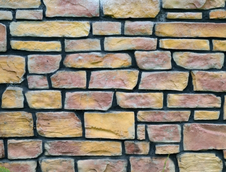 contruction: abstract rough grunge brick wall background Stock Photo