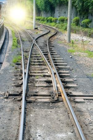 narrow gauge railway,Chinas Sichuan province. photo