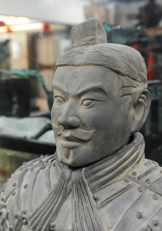 Terracotta army figure in china photo