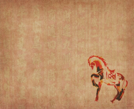 Chinese 2014 for Year of horse design, words mean happy new year photo
