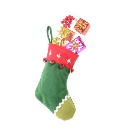 christmas sock: Christmas sock with many gift box