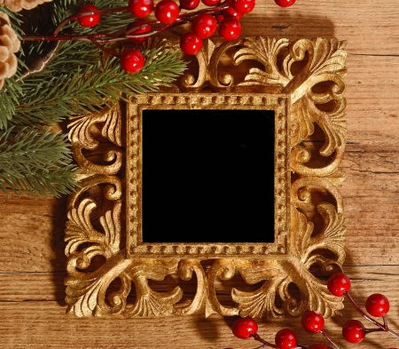 Christmas greeting photo frame photo