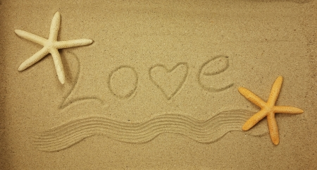 heart in sand: Love in the sand