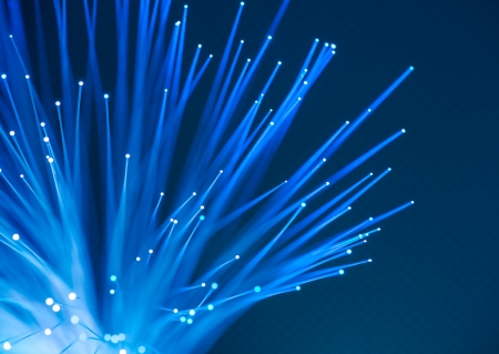 optic fiber: computer data concept with fiber optic for global communication