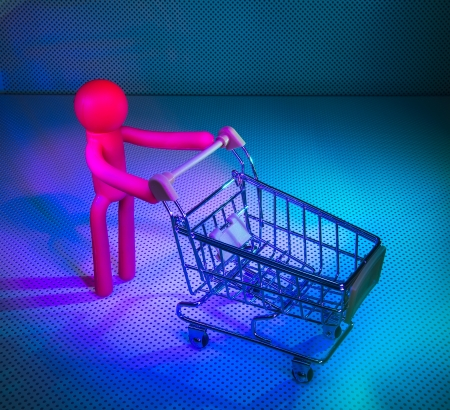 sopping: Rubber Figures with a shopping cart