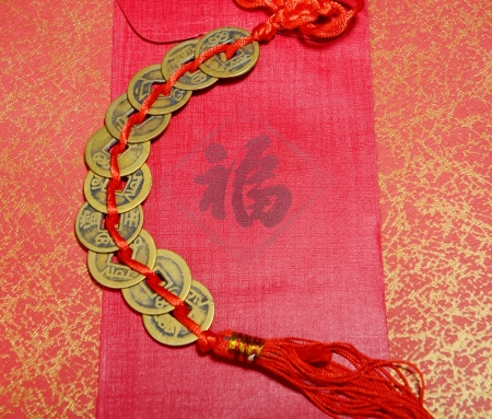 Lucky knot for Chinese new year greeting pray the safety and property for the owner photo