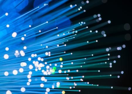 câble de réseau de fibre optique Banque d'images
