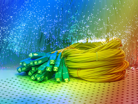 switch plug: fiber optical network cable