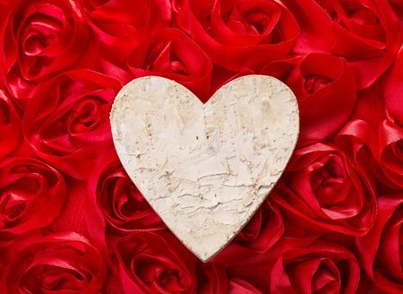 make love: Love forever. Heart shape make of tree bark Stock Photo