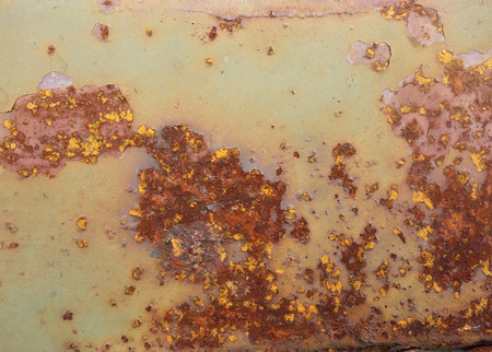 corrode: Metal texture with blue paint and rust Stock Photo