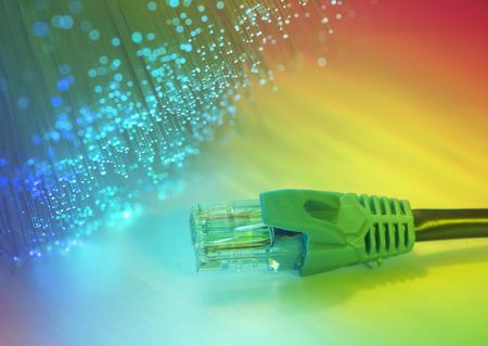 cable red: cable de red con tecnología de alta tecnología de color de fondo