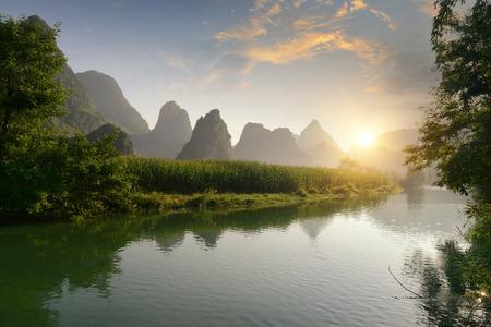 guilin: landscape in Yangshuo Guilin, China
