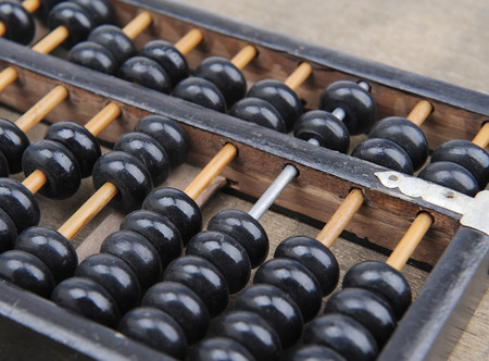 abaci: Chinese abacus mean symbols of wealth and prosperity Stock Photo