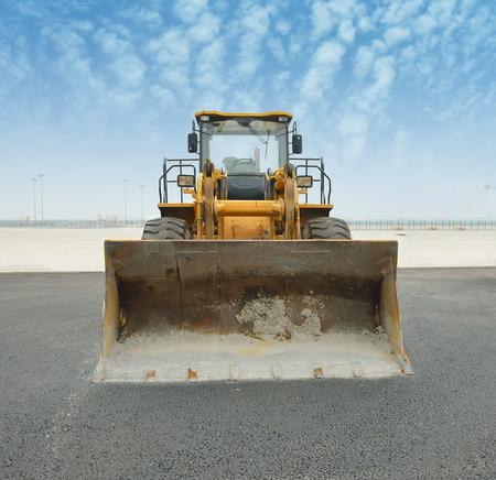 bulldozer on a building site photo