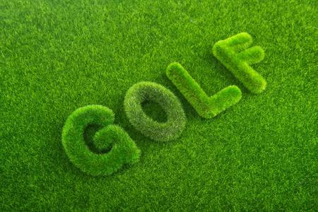 buchstabe: golf green grass word on green background