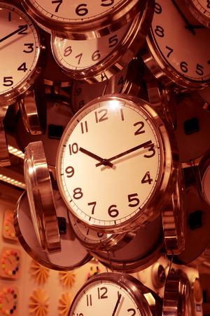 several: Several clocks