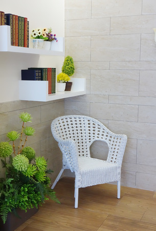 arm chair: Home library with arm chair
