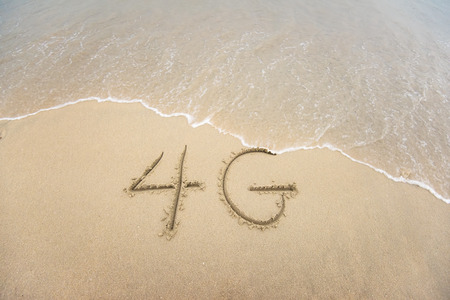 4G written in the sand photo