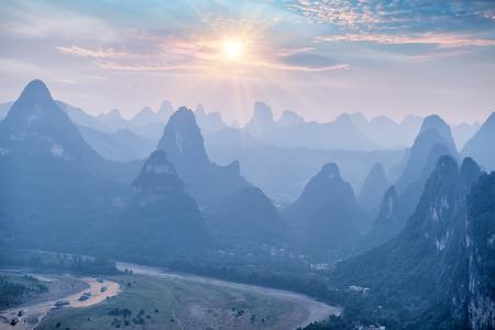 landscape in Yangshuo Guilin, China