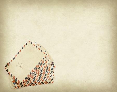 cartero: Pila de vieja carta