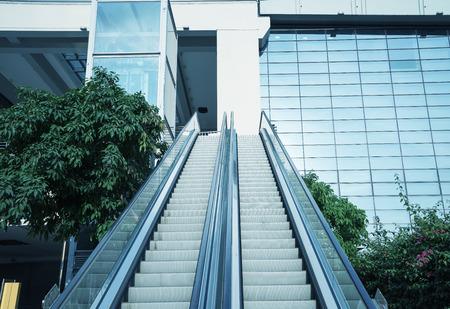 Escalator at modern business center photo