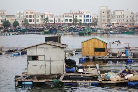 Fishing village in china