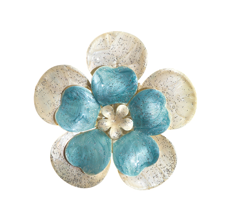 jewelle: flower brooches on white background
