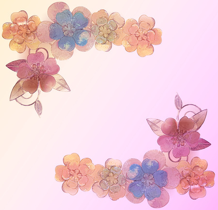 coulomb: Vintage background with flower brooches