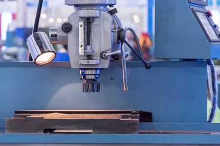 metalworking: CNC milling machine milling heads in metal industry