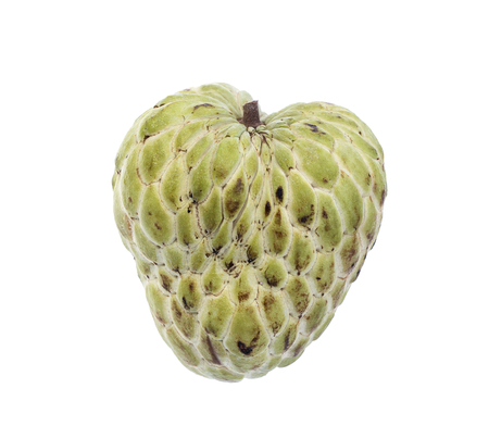 annona: Sugar Apple (custard apple, Annona, sweetsop) on white background Stock Photo
