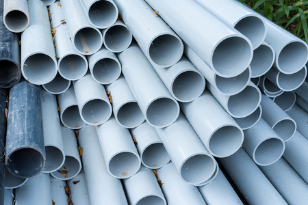 pipe: pvc pipes close up