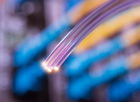 fiber optics Standard-Bild
