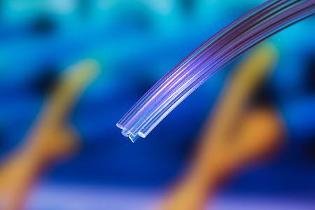 lines abstract: fiber optics Stock Photo