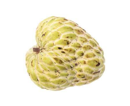 sweetsop: Sugar Apple (custard apple, Annona, sweetsop) on white background Stock Photo