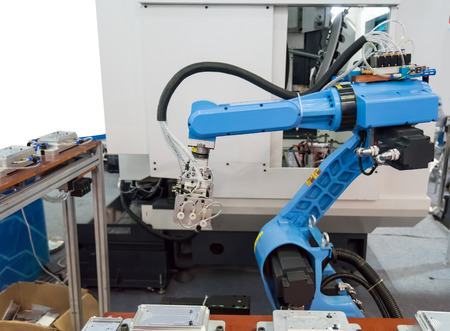 mano robotica: robotic hand machine tool at industrial manufacture factory