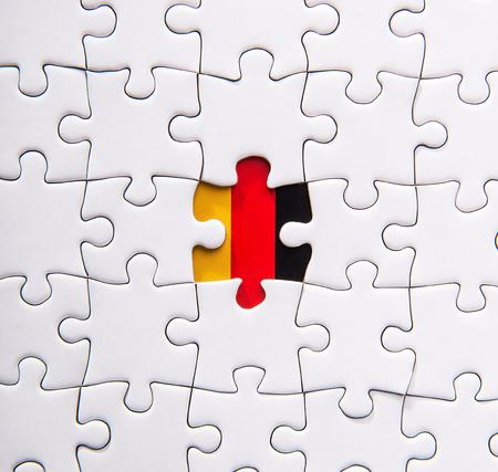 Jigsaw pattern of GERMANY flag 版權商用圖片 - 53592335