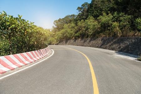 slight: Empty road with slight