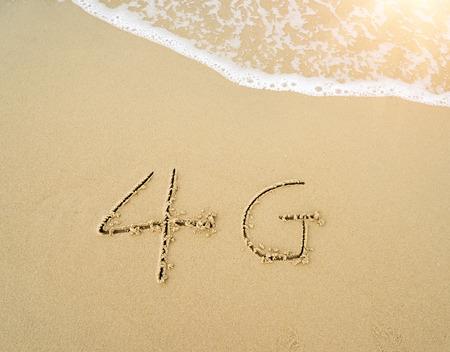 4g: 4g written in the sand