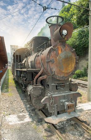 narrow gauge: narrow gauge railway,Chinas Sichuan province. Stock Photo