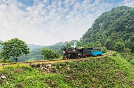 narrow gauge: narrow gauge railway,Chinas Sichuan province. Editorial