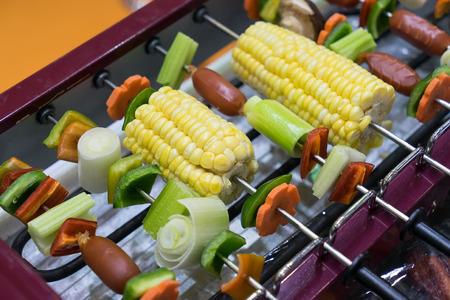corncob: Vegetarian bbq and corncob