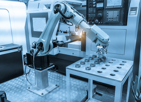 Controler of robotic hand Banque d'images