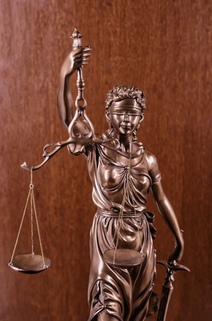 court process: Statue of justice,law concept